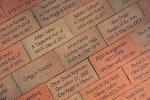 Road-to-Recovery brick fundraiser